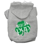 Irish Pup Screen Print Pet Hoodies Grey Size XS (8)