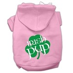 Irish Pup Screen Print Pet Hoodies Light Pink Size XS (8)
