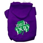Irish Pup Screen Print Pet Hoodies Purple Size XS (8)