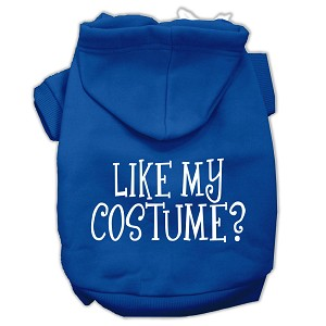 Like my costume? Screen Print Pet Hoodies Blue Size M (12)