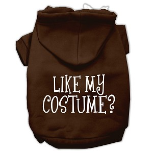 Like my costume? Screen Print Pet Hoodies Brown Size Sm (10)