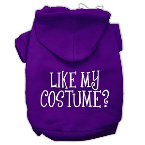 Like my costume? Screen Print Pet Hoodies Purple Size XL (16)