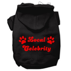 Local Celebrity Screen Print Pet Hoodies Black Size Med (12)