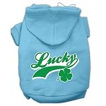Lucky Swoosh Screen Print Pet Hoodies Baby Blue Size XS (8)