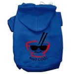 Miso Cool Screen Print Pet Hoodies Blue Size XS (8)
