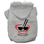 Miso Cool Screen Print Pet Hoodies Grey Size XS (8)