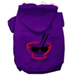 Miso Cool Screen Print Pet Hoodies Purple Size XS (8)