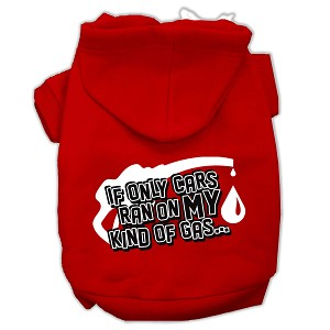 My Kind of Gas Screen Print Pet Hoodies Red Size XXL