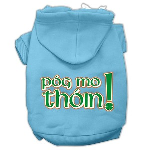 Pog Mo Thoin Screen Print Pet Hoodies Baby Blue Size Lg (14)