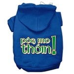 Pog Mo Thoin Screen Print Pet Hoodies Blue Size Med (12)