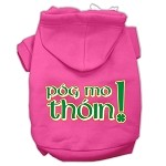 Pog Mo Thoin Screen Print Pet Hoodies Bright Pink Size XS (8)