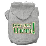 Pog Mo Thoin Screen Print Pet Hoodies Grey Size Med (12)