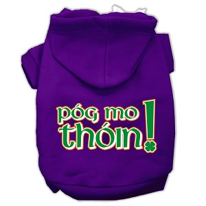 Pog Mo Thoin Screen Print Pet Hoodies Purple Size XXXL (20)