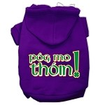 Pog Mo Thoin Screen Print Pet Hoodies Purple Size Med (12)