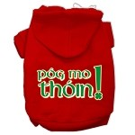 Pog Mo Thoin Screen Print Pet Hoodies Red Size Sm (10)