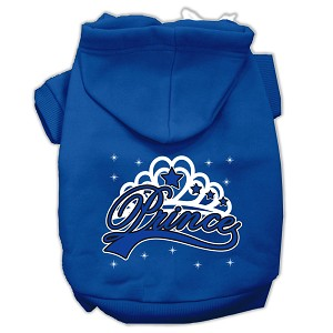 I'm a Prince Screen Print Pet Hoodies Blue Size Med (12)
