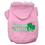 Proud to be Irish Screen Print Pet Hoodies Light Pink Size Med