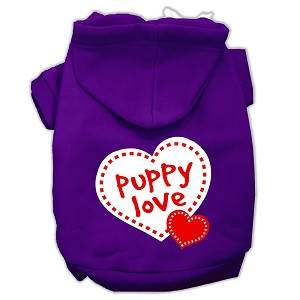 Puppy Love Screen Print Pet Hoodies Purple Size XXXL (20)