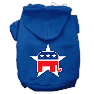 Republican Screen Print Pet Hoodies Blue Size XL (16)