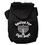 Spoiled for 8 Days Screenprint Dog Pet Hoodies Black Size XS