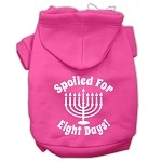 Spoiled for 8 Days Screenprint Dog Pet Hoodies Bright Pink Size XS
