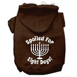 Spoiled for 8 Days Screenprint Dog Pet Hoodies Brown Size XS