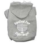 Spoiled for 8 Days Screenprint Dog Pet Hoodies Grey Size XS