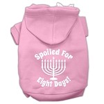 Spoiled for 8 Days Screenprint Dog Pet Hoodies Light Pink Size XS