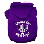 Spoiled for 8 Days Screenprint Dog Pet Hoodies Purple Size XS