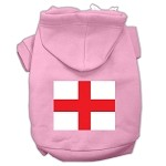 St. George's Cross Screen Print Pet Hoodies Light Pink Size Med