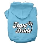 Team Bride Screen Print Pet Hoodies Baby Blue Size XS (8)