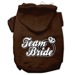 Team Bride Screen Print Pet Hoodies Brown Size XS (8)