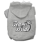 Team Bride Screen Print Pet Hoodies Grey Size XS (8)