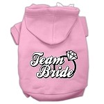 Team Bride Screen Print Pet Hoodies Light Pink Size XS (8)
