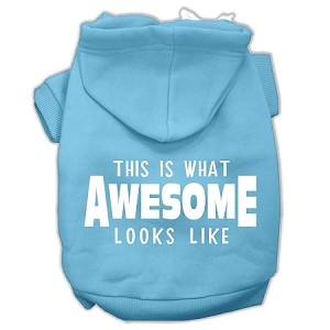 This is What Awesome Looks Like Dog Pet Hoodies Baby Blue Size XL (16)