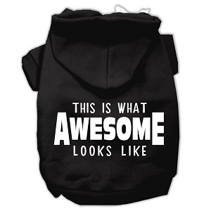 This is What Awesome Looks Like Dog Pet Hoodies Black Size XS (8)