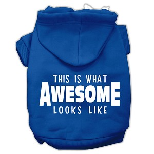 This is What Awesome Looks Like Dog Pet Hoodies Blue Size Lg (14)