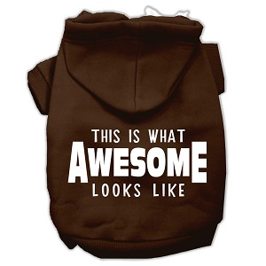 This is What Awesome Looks Like Dog Pet Hoodies Brown Size Lg (14)
