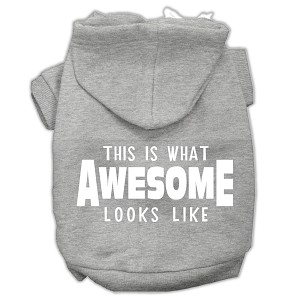 This is What Awesome Looks Like Dog Pet Hoodies Grey Size Sm (10)