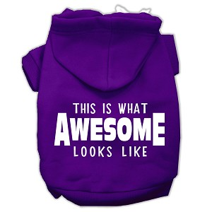 This is What Awesome Looks Like Dog Pet Hoodies Purple Size XXL (18)