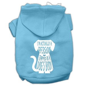 Trapped Screen Print Pet Hoodies Baby Blue Size XXXL (20)