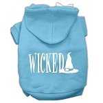 Wicked Screen Print Pet Hoodies Baby Blue Size XS (8)