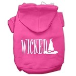 Wicked Screen Print Pet Hoodies Bright Pink Size XS (8)