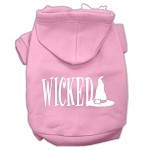 Wicked Screen Print Pet Hoodies Light Pink Size XS (8)