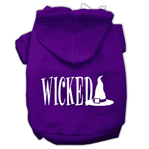 Wicked Screen Print Pet Hoodies Purple Size L (14)