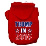 Trump in 2016 Election Screenprint Pet Hoodies Red Size XS (8)
