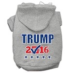 Trump Checkbox Election Screenprint Pet Hoodies Grey Size XS (8)