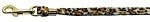 Animal Print Leash Jaguar 3/8 Plain Leash