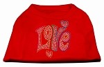 Technicolor Love Rhinestone Pet Shirt Red Med