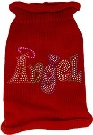 Technicolor Angel Rhinestone Knit Pet Sweater Red Med